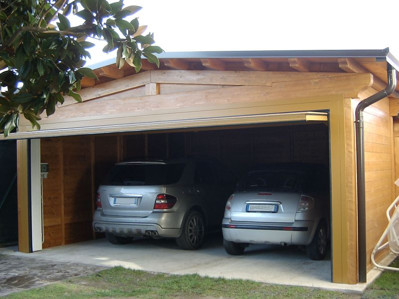 Carport verona carport in legno antigrandine for Due box auto